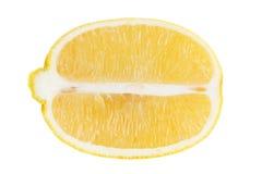 Juicy half of a lemon on white background Stock Photo