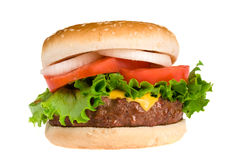 Juicy Hamburger Stock Images
