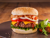 Juicy hamburger Stock Image