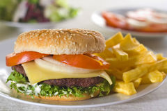 Juicy hamburger meat Stock Image