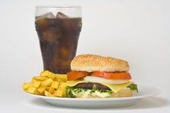 Juicy hamburger meat Stock Photos