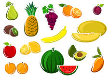 Juicy healthy fresh isolated fruits Royalty Free Stock Photography