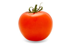 Juicy Isolated Tomato (with Clipping Path). Tomato isolated on the white background Royalty Free Stock Photo