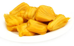 Juicy jackfruit flesh Royalty Free Stock Photos
