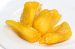 Juicy jackfruit flesh Royalty Free Stock Photo