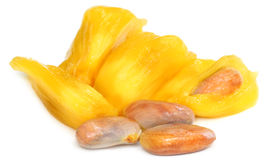 Juicy jackfruit flesh with seeds Royalty Free Stock Photos