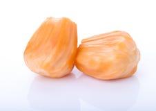 Juicy jackfruit isolated on white background Royalty Free Stock Images