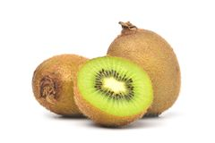 Juicy Kiwi fruit with cut in half Stock Photography