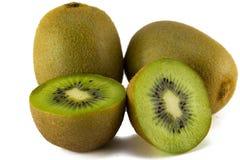 Juicy kiwi fruit isolated on white background. Royalty Free Stock Photos