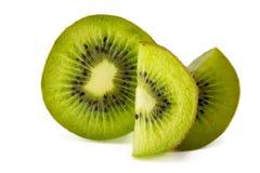 Juicy kiwi fruit isolated on white background. Royalty Free Stock Photo