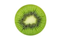 Juicy kiwi fruit isolated on white background. Whole kiwi fruit and his sliced segments isolated on white background Royalty Free Stock Photography