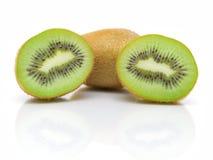 Juicy kiwi fruit on a white background Stock Images