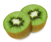 Juicy kiwi sliced to two sections Stock Images