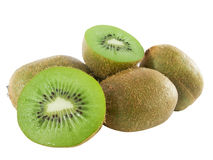 Juicy kiwis in slices. Ripe juicy kiwis in slices royalty free stock photos
