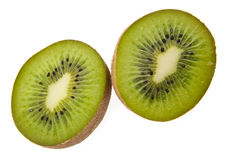 Juicy kiwis. On a white background royalty free stock images