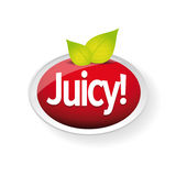 Juicy label vector red Stock Image