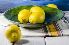 Juicy lemon colored golden sunshine Stock Images