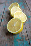 Juicy lemon halves Royalty Free Stock Photos
