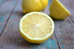 Juicy lemon halves Stock Photography