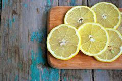 Juicy lemon slices Stock Photography