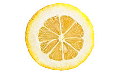 Juicy lemon. With a thick rind royalty free stock photography