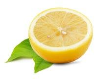 Juicy lemons isolated on the white background Royalty Free Stock Image