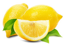 Juicy lemons isolated on the white background Royalty Free Stock Photography