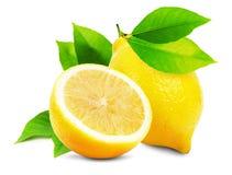 Juicy lemons isolated on the white background Royalty Free Stock Photos