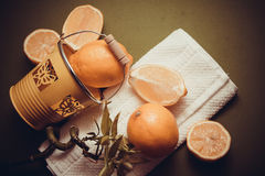 Juicy lemons, source of vitamin c Royalty Free Stock Photography