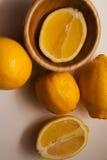 Juicy lemons on white Stock Photo