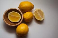 Juicy lemons on white Royalty Free Stock Image