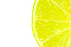 Juicy lime slice. fresh fruits on white background Royalty Free Stock Image