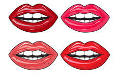Juicy lips. Juicy lip color on a white background Stock Images