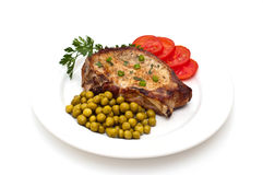 Juicy loin cut steak Royalty Free Stock Image