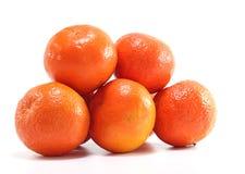 Juicy mandarins. On white background stock photo