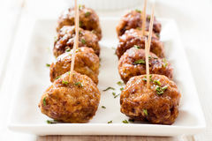 Juicy meatballs Stock Photography