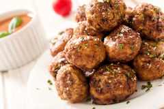 Juicy meatballs Stock Images