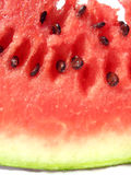 Juicy melon. Detail from colorful melon royalty free stock photo