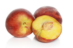 Juicy nectarines Stock Photography