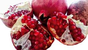 Juicy opened pomegranate stock photo