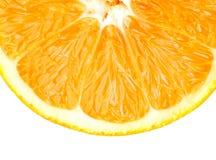 Juicy orange. Closeup of ripe orange fruit Stock Image