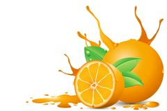 Juicy Orange Stock Photography