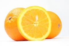 Juicy orange. Fruit. Oranges fruits on white background royalty free stock photos