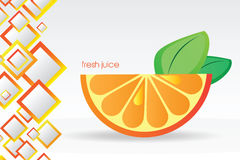 Juicy orange background. Juicy orange - Abstract background with bright vector design elements Stock Photography