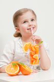 Juicy orange fruits Stock Images