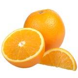 Juicy Orange Fruits Isolated on White Background Stock Photos
