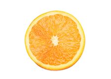 Juicy orange isolated on white Stock Image
