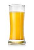 Juicy orange juice in a big glass Stock Images