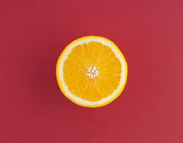 Juicy orange and red background Stock Images