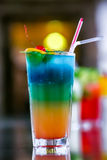 Juicy Orange and Red Tequila Sunrise with a Cherry Royalty Free Stock Images